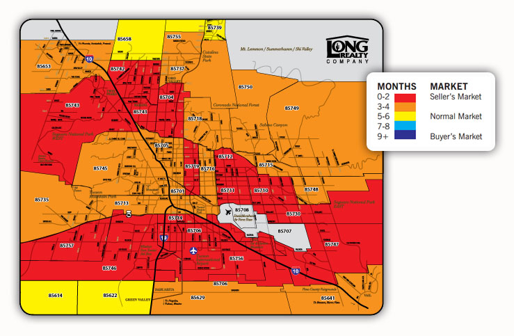 Tucson Area Heat Map as of May 2012