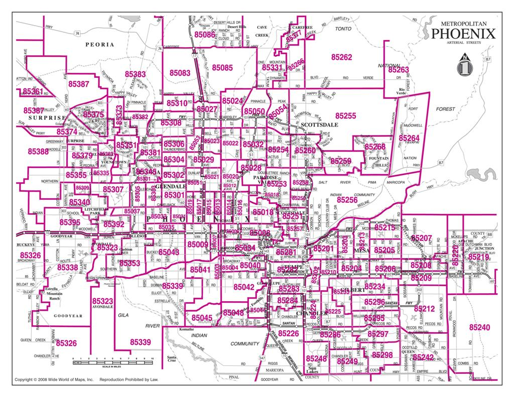 Phoenix Area Zip Code Map Compressportnederland
