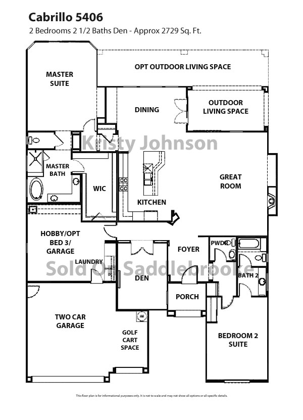 Floor Plans for SaddleBrooke | Sold on SaddleBrooke | Long Realty, a ...