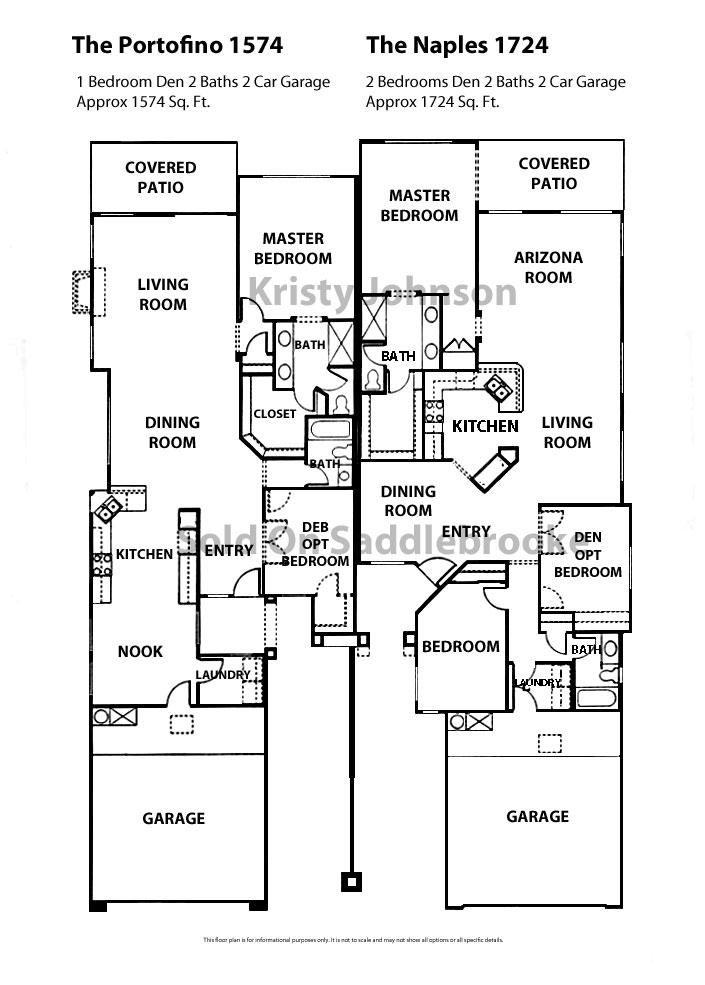 Floor Plans for SaddleBrooke Sold on SaddleBrooke – Continental Homes Floor Plans Arizona