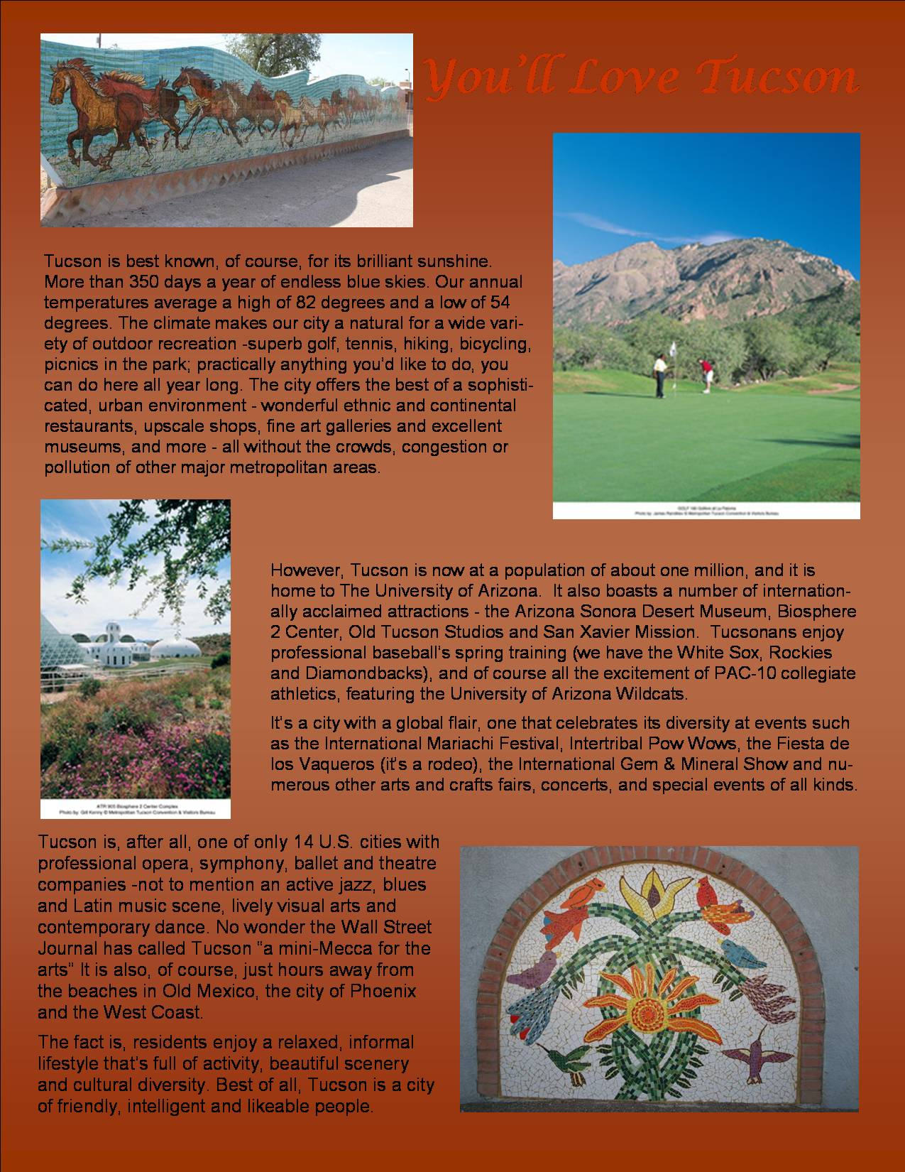 All about Tucson